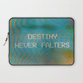 Analogue Glitch 'Destiny Never Falters' Laptop Sleeve