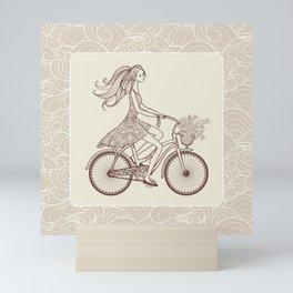 Bike Girl Mini Art Print
