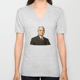 President Harry Truman Unisex V-Neck