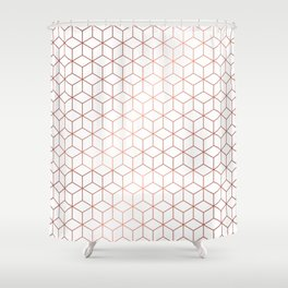 Gold Cubes Shower Curtain