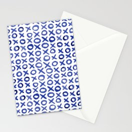 Xoxo valentine's day - blue Stationery Cards
