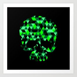 Triangle Camouflage Skull (BLACK) Art Print