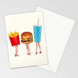 Combo Meal Pin-Ups Stationery Cards