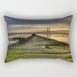 The Forth Road Bridge as the Sun Sets Rectangular Pillow