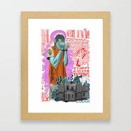 BLUE DOMO Framed Art Print