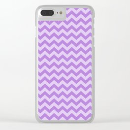 Lavender Moroccan Moods Chevrons Clear iPhone Case