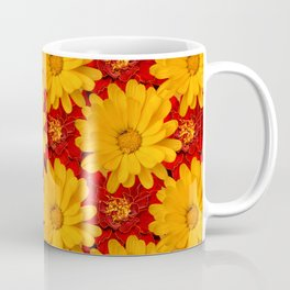 A Medley of Red and Yellow Marigolds Coffee Mug