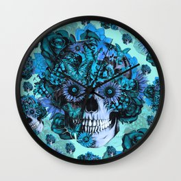 Full circle...Floral ohm skull pattern Wall Clock