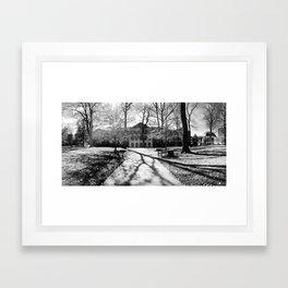 University Noir - Hollins University Framed Art Print