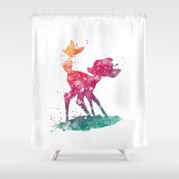 bambi Shower Curtains featuring Bambi Disneys by Carma Zoe
