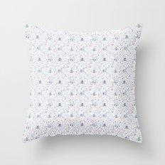 Stuga pattern, white Throw Pillow