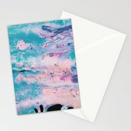 Pastel Pour Stationery Cards