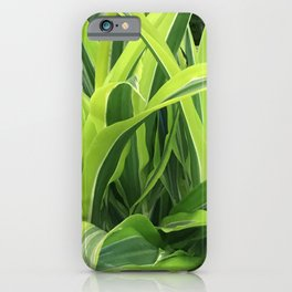 Exotic Lush Green Leaves iPhone Case