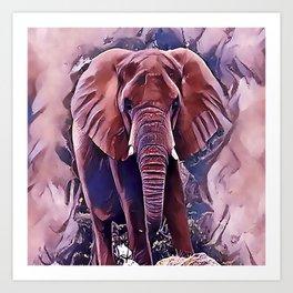 The African Bush Elephant Art Print