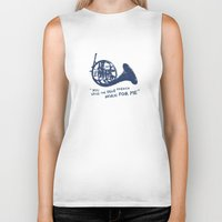 how i met your mother Biker Tanks featuring How I Met Your Mother - Blue French Horn by Victoria Schiariti