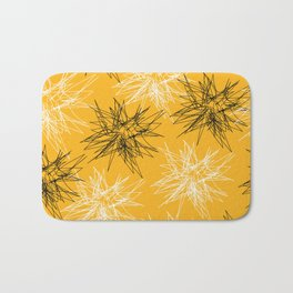 Yellow Squiggles Bath Mat