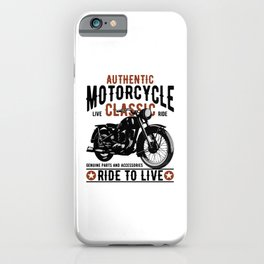 Classic Mororcycle iPhone Case