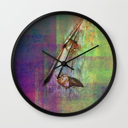 cats in courtship Wall Clock