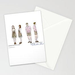 No. 3 character design for the Millers, color Stationery Cards