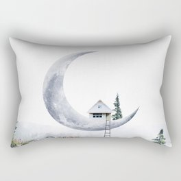 Moon House Rechteckiges Kissen