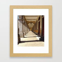 Braga City Center Walkway Framed Art Print
