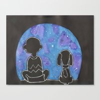 charlie brown Canvas Prints featuring Charlie Brown Wonderment by Sofia's Antics'