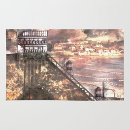Future Funicular (Steampunk Scarborough Seafront) Rug