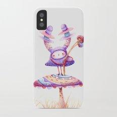 In The Land Of Magic Mushrooms iPhone X Slim Case