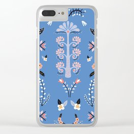 Lithuanian folklore stories (Blue Background) Clear iPhone Case