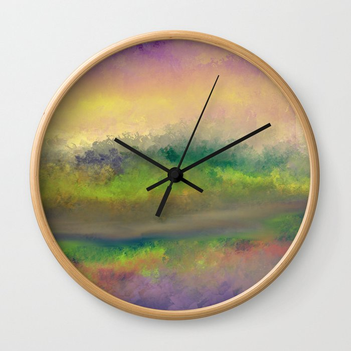 The Creek Bed Wall Clock
