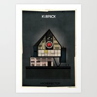 kubrick Art Prints featuring 05_ARCHIDIRECTOR_Stanley Kubrick by federico babina
