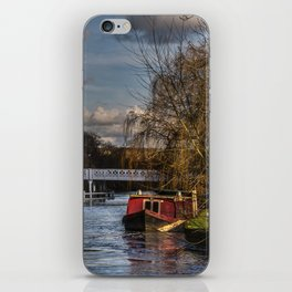 Below The Weir at Pangbourne iPhone Skin