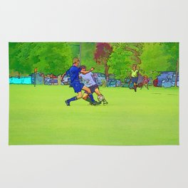 The Big Steal - Soccer Players Rug