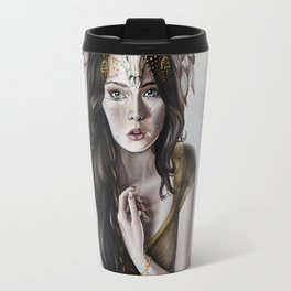 Druid Fantasy Painting with Headress Travel Mug