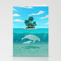 manatee Stationery Cards featuring Manatee Island by Lidra