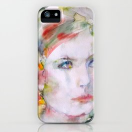 GRETA GARBO watercolor portrait.3 iPhone Case