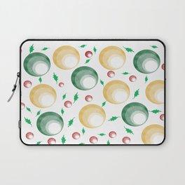 Christmas Balls and Holly Print Laptop Sleeve