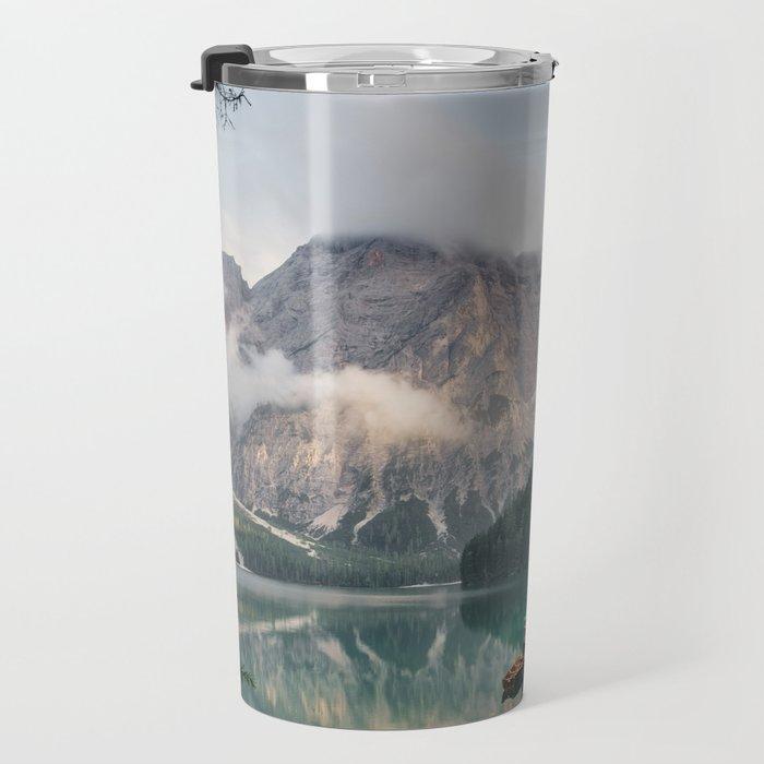Mountain Lake Cabin Retreat Travel Mug