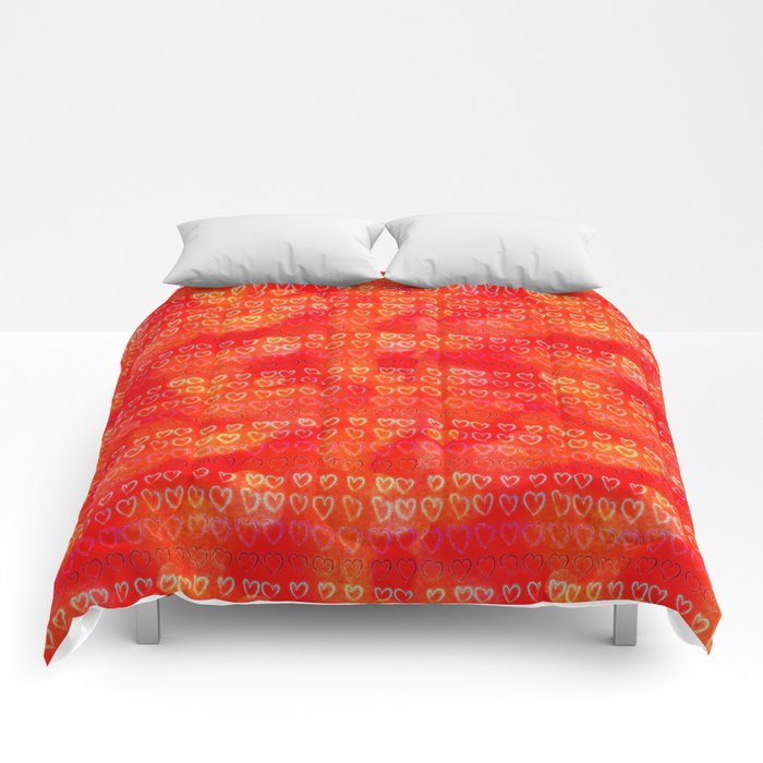 Hearts in colors Comforters