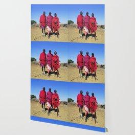 3 African Men from the Maasai Mara Wallpaper