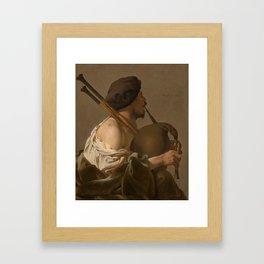 Joueur de cornemuse Framed Art Print