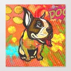 Dog pop art Canvas Print
