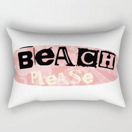 Beach Please peach Rectangular Pillow