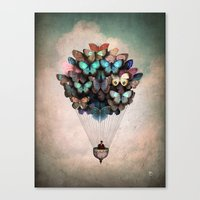 butterfly Canvas Prints featuring Dream On by Christian Schloe