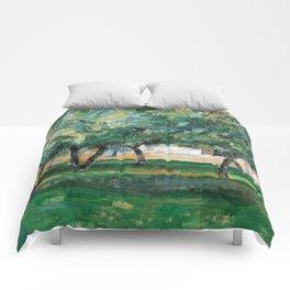 1885 - Paul Cezanne - Farm in Normandy Comforters
