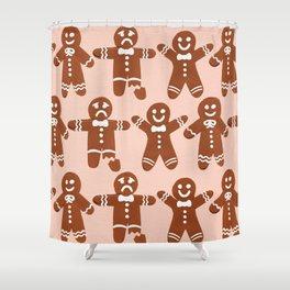 Gingerbread Men – Blush Palette Shower Curtain