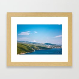 The Nature itself. Panoramic View at Krk, Croatia . Framed Art Print