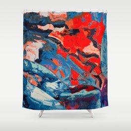 Let frustrations flow Shower Curtain