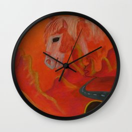 Horse Without a Name Wall Clock