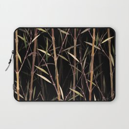 Dry Bamboo Forest at Night Laptop Sleeve